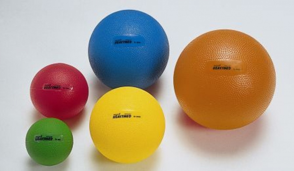 Balls, weights, elastic tapes